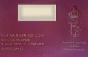 پاسپورت اسب های فریزین